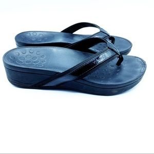 Vionic Black Sandal Flip Flops Orthopedic Shoes 9